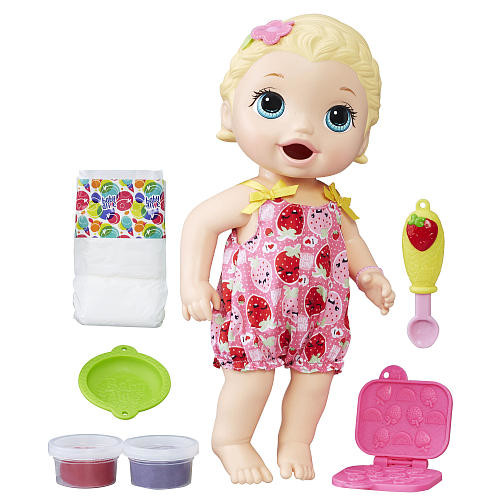Baby Alive Super Snacks Snackin' Lily Baby Doll - Blonde