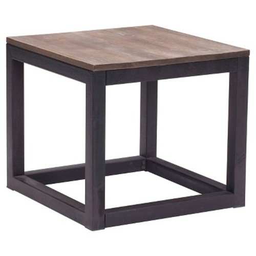 Civic Center End Table Distressed Natural - Zuo
