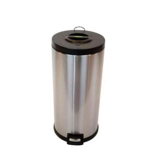 ARISTA Compactor Step Lid 7.9 Gallon Step-On Stainless Steel Trash Can