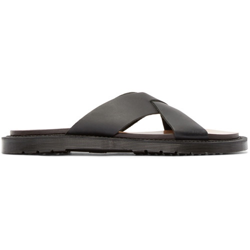 Black Leather Platt Sandal