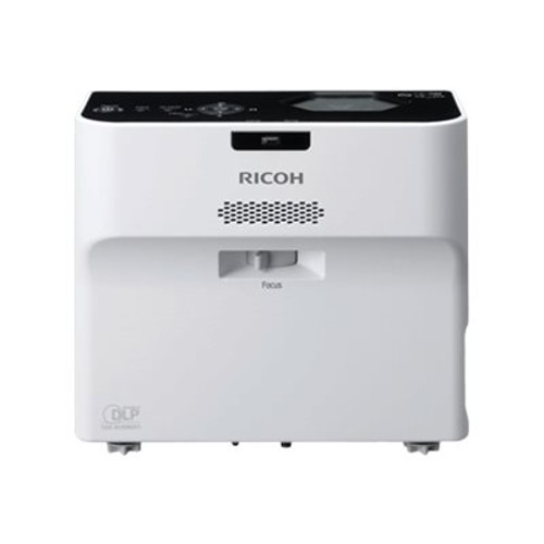 Ricoh PJ WX4152NI - DLP projector - portable - 3D - 3500 lumens - WXGA (1280 x 800) - 16:10 - ultra short-throw lens - 802.11a/b/g/n wireless / LAN (432104)