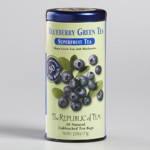 The Republic of Tea Blueberry Superfruit Tea, 50-Count