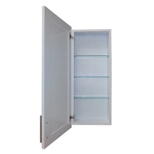 WG Wood Products Cumberland 15.5'' x 31.5'' Recessed Medicine Cabinet; White Enamel