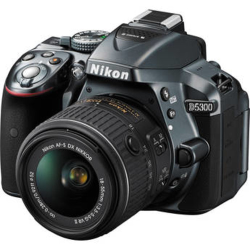 D5300 DSLR Camera with 18-55mm Lens (Gray)