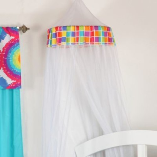 One Grace Place Terrific Tie Dye Mesh Canopy