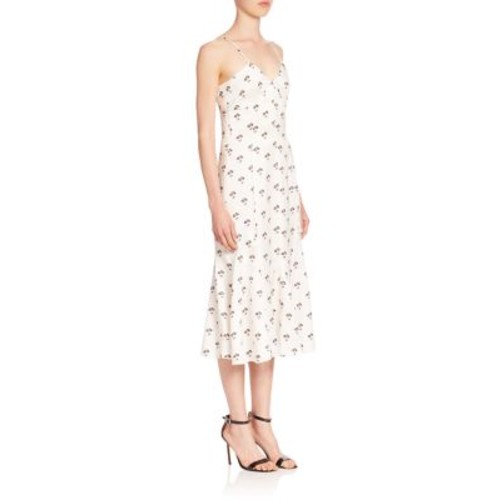 VICTORIA BECKHAM Cami Printed Midi Dress