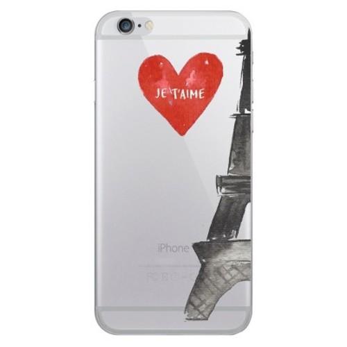 iPhone 6/6S/7/8 Case Hybrid Eifel Tower Clear - OTM Essentials