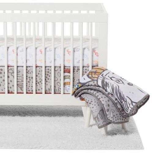 Trend Lab Dr. Seuss Crib Bedding Set - Peek-a-Boo Cat in the Hat - 4pc