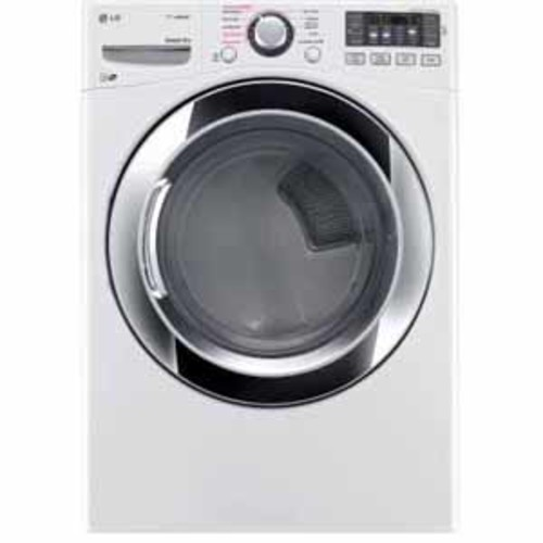 LG 7.4 cu. ft. Ultra Large Capacity Steam Gas Dryer with NFC Tag On - White