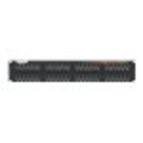 Black Box GigaTrue CAT6 Patch Panel, Universal Wiring, Component Level, 48-Port, 2U - 48 x RJ-45 - 48 Port(s) - 48 x RJ-45 - 48 x RJ-11 - 2U High - Rack-mountable