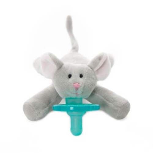 WubbaNub Mouse Infant Pacifier in Grey