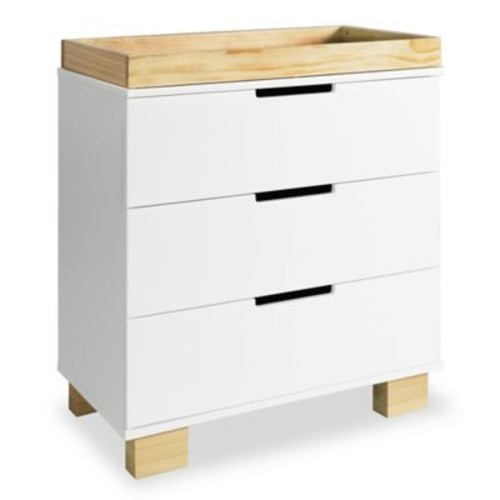 Babyletto Modo 3-Drawer Changer Dresser in White/Natural