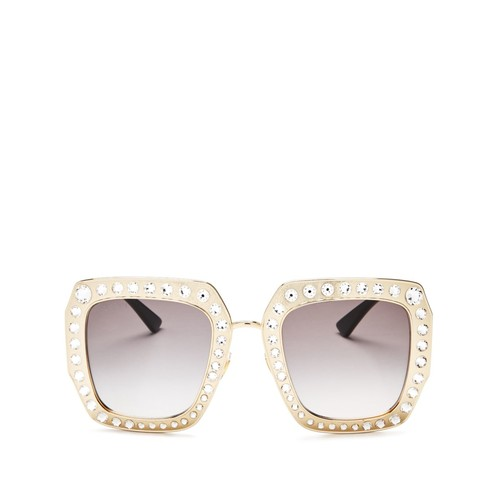 GUCCI Oversized Square Embellished Sunglasses, 52Mm