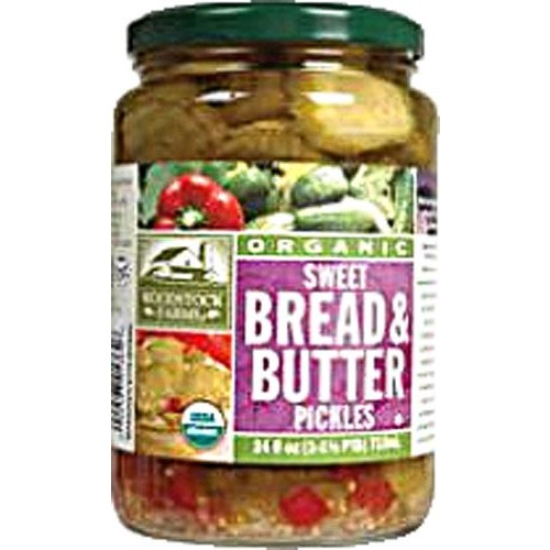Woodstock Farms Organic Sweet Bread and Butter Pickles -- 24 oz