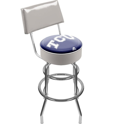 Trademark Games TCU Horned Frogs Padded Swivel Bar Stool with Back