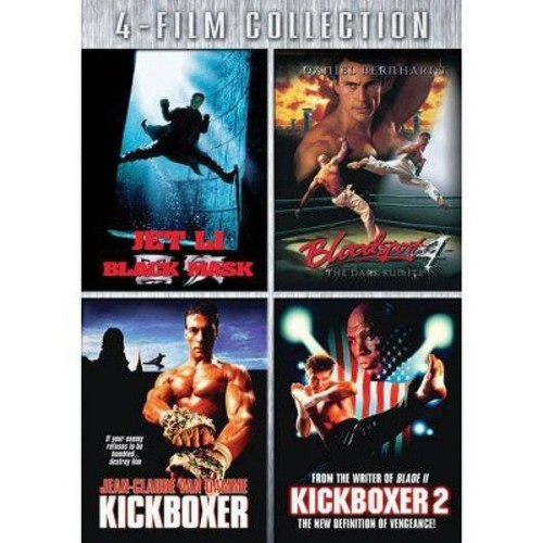 Black mask/Bloodsport 4/Kickboxer/Ame (DVD)