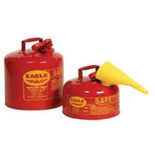 Eagle Type I Safety Can For Flammables, 5 Gallon, Red