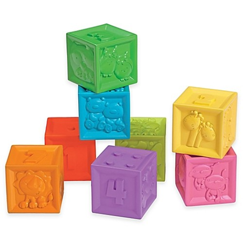 Infantino 8-Piece Squeeze and Stack Block Set