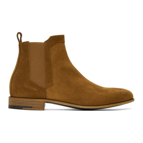Brown Suede Drugstore Chelsea Boots