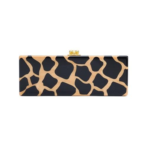EDIE PARKER Leopard Pattern Rectangular Clutch