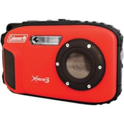 Coleman 20.0-megapixel Xtreme3 Hd Video Waterproof Digital Camera (red)