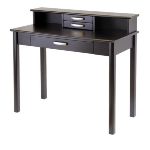 Liso Writing Desk with Hutch Espresso - Winsome
