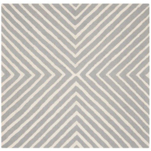 Safavieh Cambridge Silver/Ivory Square Indoor Handcrafted Moroccan Area Rug (Common: 4 x 4; Actual: 4-ft W x 4-ft L)