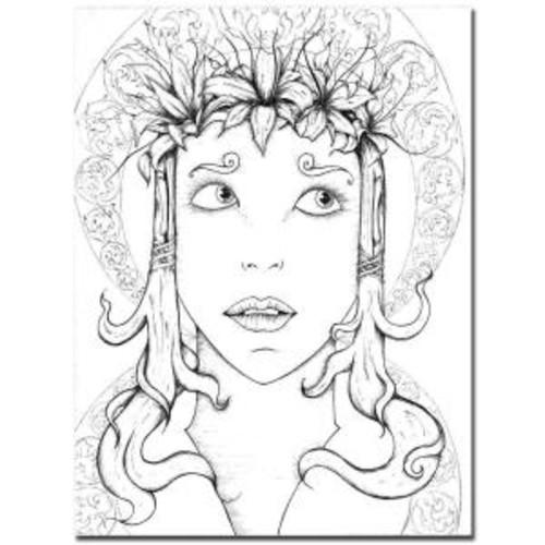 Trademark Fine Art 18 in. x 24 in. Head Dress Canvas Art