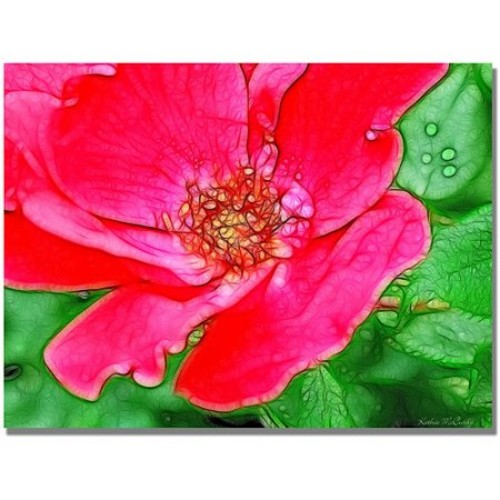 Red Rose by Kathie McCurdy, 18x24-Inch Canvas Wall Art [18 by 24-Inch]