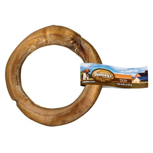 Dentley's Nature's Chew Bully Ring Dog Treat