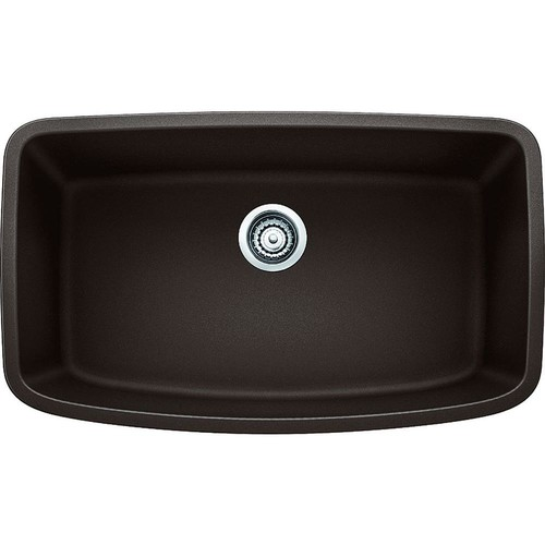 Blanco VALEA Undermount Granite Composite 32 in. Super Single Bowl Kitchen Sink in Cafe Brown