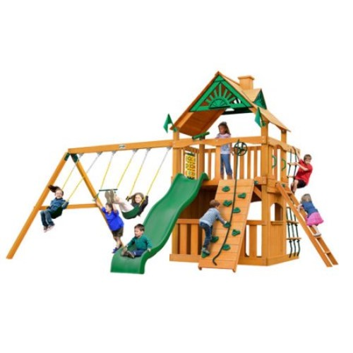 Gorilla Playsets Chateau Clubhouse with Amber Posts Cedar Playset