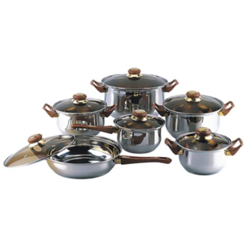 La Cuisine PRO Ruby 6-piece Cast Iron Round Casserole Set