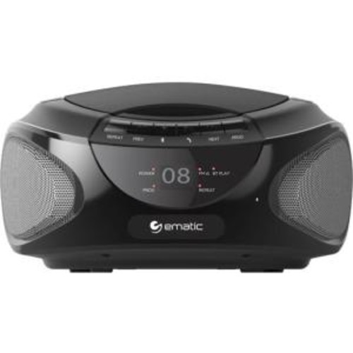 CD Bluetooth Boombox Black