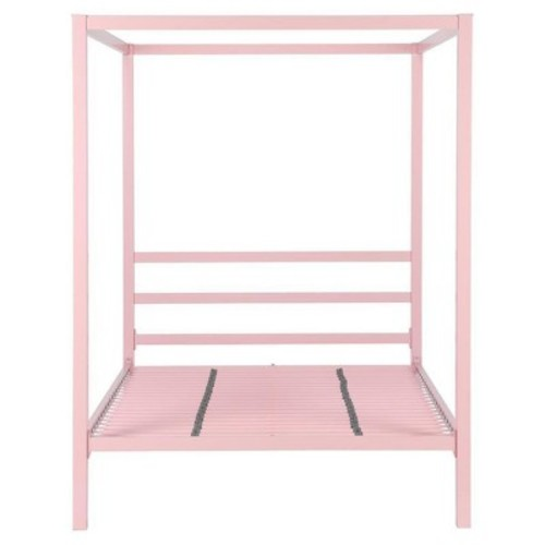 Modern Metal Canopy Bed (Twin) - Pink - Dorel Home Products
