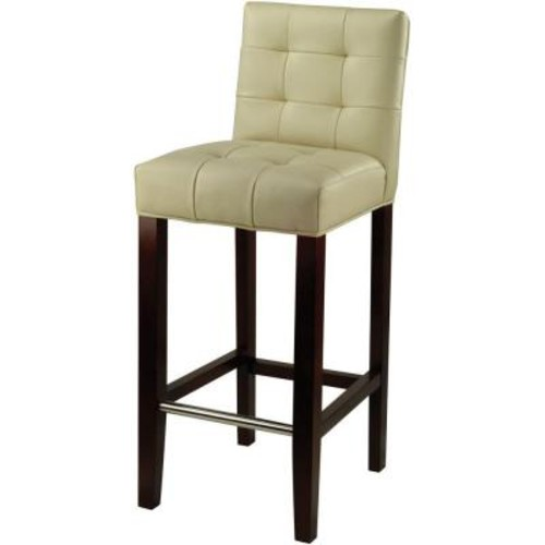Safavieh Thompson 30 in. Cream Cushioned Bar Stool