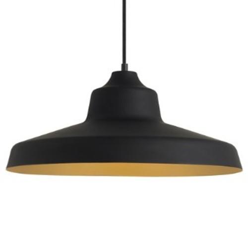 Zevo Pendant [Light Option : Incandescent; Finish : Black w/ Gold Interior]