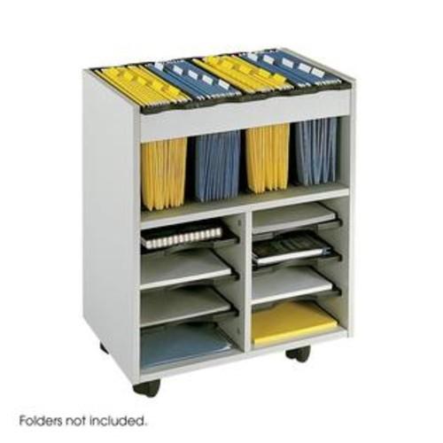 Safco Go Cart Mobile File Cart, Gray