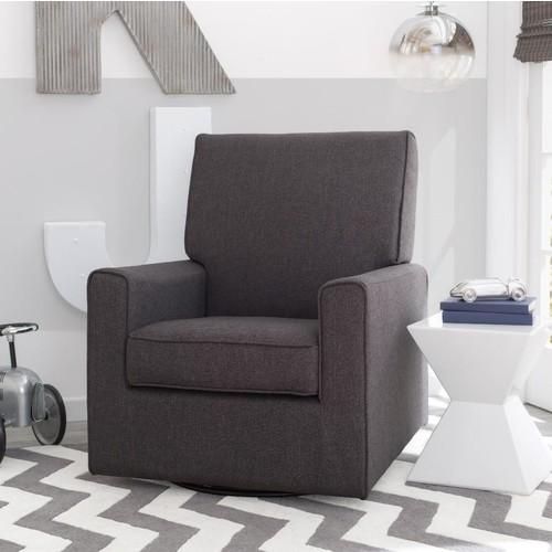 Delta Children Eva Nursery Glider Swivel Rocker Chair - Charcoal