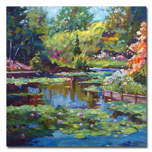 'Serenity Pond' by David Lloyd Glover Framed Painting Print on Wrapped Canvas