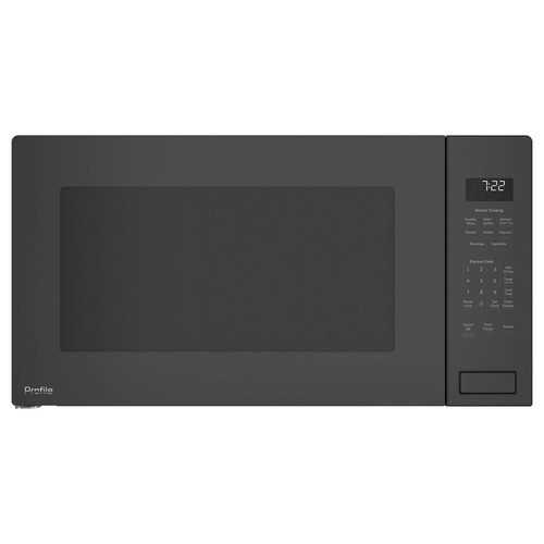GE Profile 2.2 cu. ft. Countertop Microwave in Black Stainless Steel with Sensor Cooking