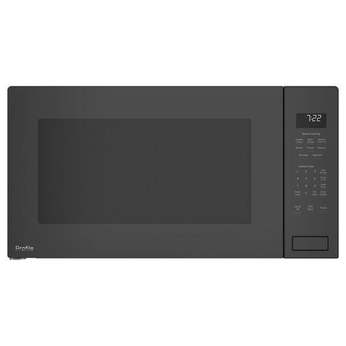 GE Profile 2.2 cu. ft. Countertop Microwave in Black Stainless Steel with Sensor Cooking, Fingerprint Resistant