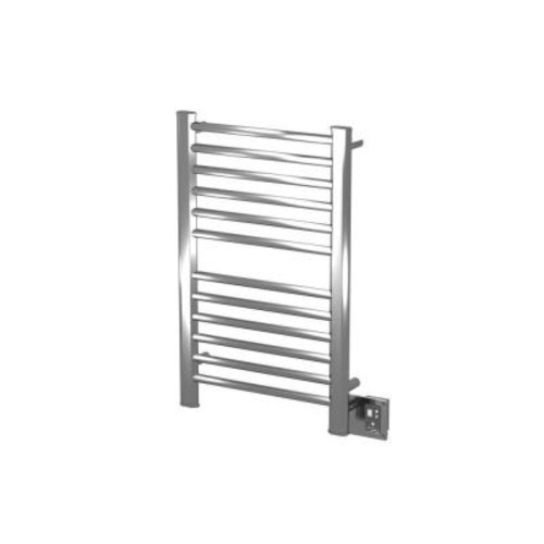 Amba Sirio S-2133 21 in. W x 23.25 in. H 12-Bar Electric Towel Warmer in Brushed Stainless Steel