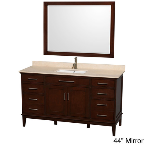 Wyndham Collection Hatton Dark Chestnut 60-inch Single-sink Bathroom Vanity