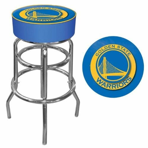 Golden State Warriors NBA Padded Swivel Bar Stool