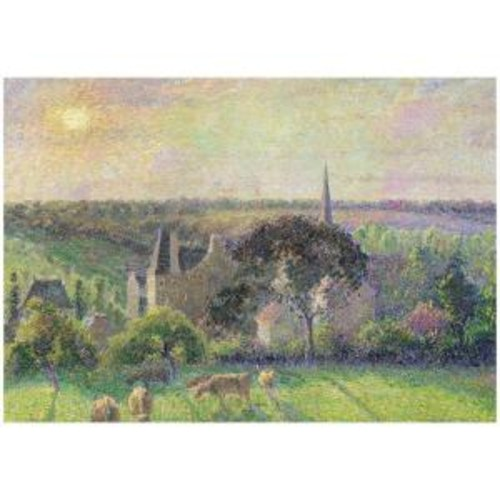 Trademark Fine Art 26 in. x 32 in. The Church and Farm of Eragny 1895 Canvas Art