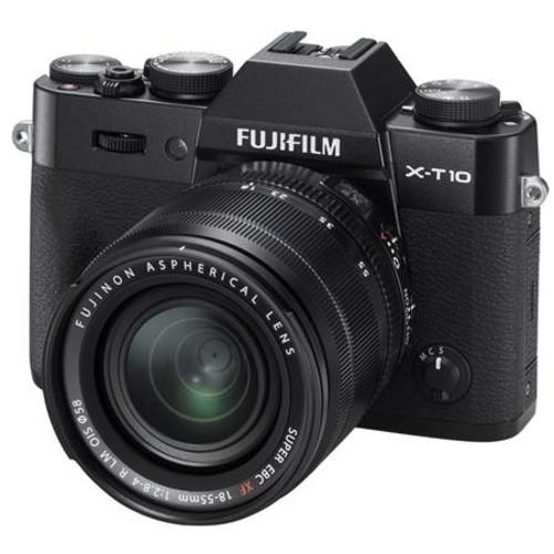 Fujifilm X-T10 Mirrorless with 18-55mm OIS Lens, Black 16471005