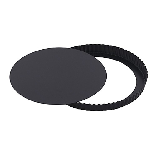 Paderno World Cuisine 11-Inch Fluted Tart Pan in Black