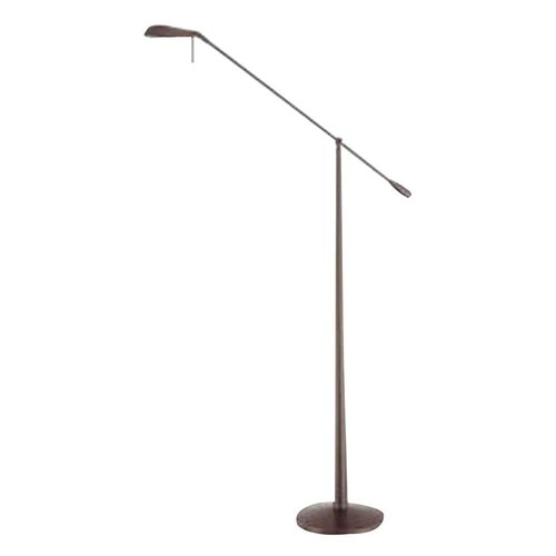 Kendal Lighting Cassiopeia 12 in. Satin Nickel Incandescent Floor Lamp