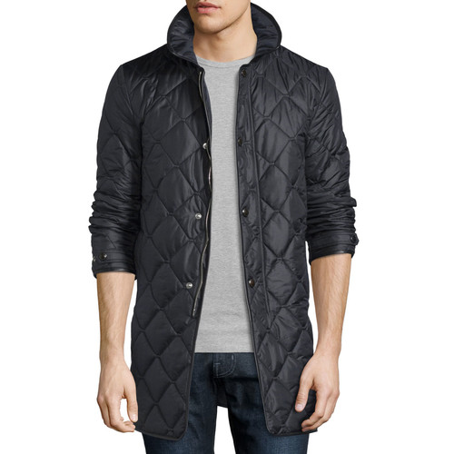 BURBERRY LONDON Quilted Nylon Carcoat, Black